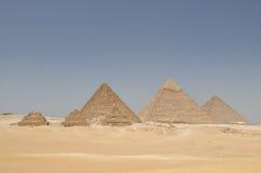 De piramides van Giza, Egypte stock afbeeldingen
