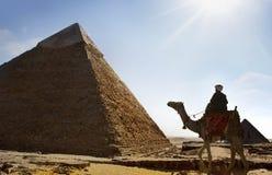 De piramides van Giza, Kaïro, Egypte Stock Afbeelding