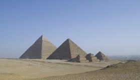 De Piramides van Gizeh in Kaïro, Egypte Stock Foto's