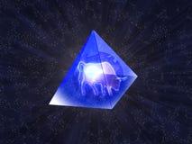De piramides van het glas Stock Foto