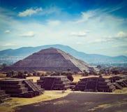 De Piramides van Teotihuacan stock fotografie