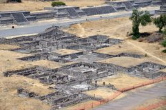 De Piramides van Teotihuacan, Mexico Stock Foto's