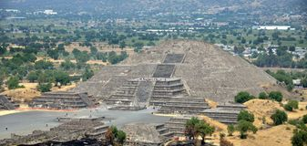 De Piramides van Teotihuacan, Mexico Royalty-vrije Stock Foto's
