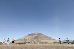 De Piramides van Teotihuacan in Mexico Stock Afbeeldingen