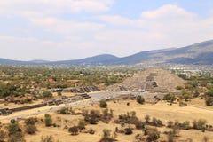 De Piramides van Teotihuacan, Mexico stock fotografie