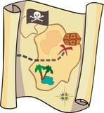 De piraten brengen in kaart Stock Fotografie