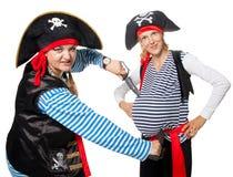 De piraten maken pret Stock Afbeelding