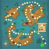 De piraten waarderen eilandspel Stock Foto's