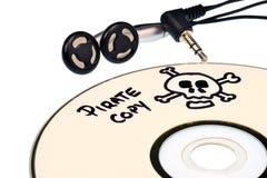 De piraterij van de muziek stock afbeelding