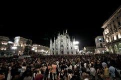 De pisapiaverkiezing van Giuliano van de viering kan, 30 2011 Royalty-vrije Stock Foto's