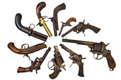 De pistolen van de groep Stock Foto