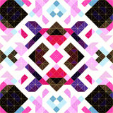 De pixel verzachten abstract geometrisch naadloos patroon in roze Stock Foto's