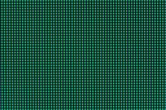 De pixel worden aangestoken met verschillende montages en vouwen turkoois licht op de computermonitor royalty-vrije stock afbeelding