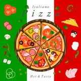 De Pizza vector illustratie