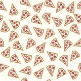 De pizza snijdt naadloos patroon Stock Foto