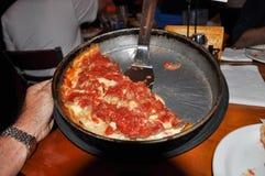 De pizza van Chicago Stock Afbeeldingen