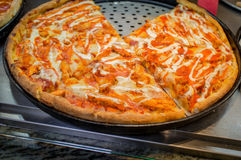 De Pizza van de buffelskip Stock Foto's