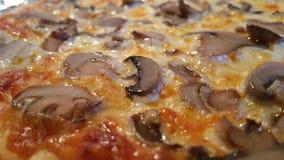 De Pizza van de close-uppaddestoel Royalty-vrije Stock Afbeeldingen