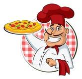 De Pizza van de kok. Royalty-vrije Stock Foto's