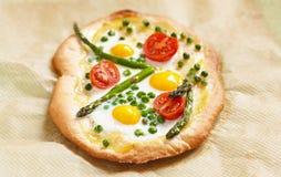 De pizza van de lente stock foto