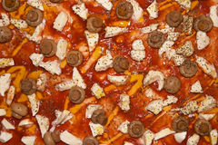 De pizza van de mozarella en van de paddestoel Royalty-vrije Stock Foto's