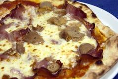 De pizza van de paddestoel stock afbeeldingen