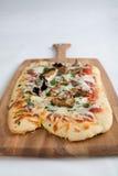 De pizza van de paddestoel royalty-vrije stock afbeeldingen