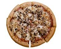 De Pizza van de paddestoel royalty-vrije stock afbeelding