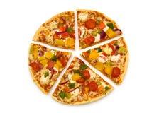 De pizza van de plak Stock Foto