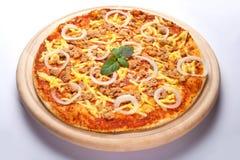 De pizza van de tonijn stock afbeelding