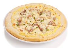 De pizza van het braadstukvarkensvlees Stock Afbeelding