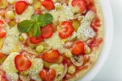 De pizza van het fruit Stock Afbeelding