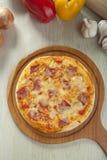 De pizza van het rookrundvlees Stock Foto's