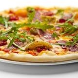 De Pizza van het Vlees van de eend Stock Foto's