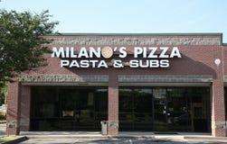 De Pizza van Milaan ` s stock foto's