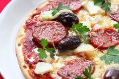 De Pizza van pepperonis Stock Afbeelding