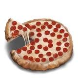 De Pizza van pepperonis Royalty-vrije Stock Afbeelding