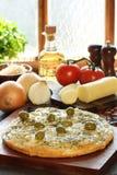 De pizza van uien Royalty-vrije Stock Foto's
