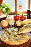 De pizza van uien Royalty-vrije Stock Afbeeldingen
