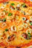 De pizza van zeevruchten Royalty-vrije Stock Foto's