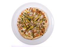 De pizza van zeevruchten Stock Fotografie