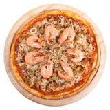 De pizza van zeevruchten Royalty-vrije Stock Foto