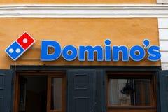 De pizzaembleem van de domino Royalty-vrije Stock Fotografie