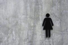 De plâtre de mur du grenier modèle populaire et beau largement avec le modèle des fissures et signes une image d'une femme dans l photographie stock