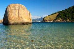de plażowy krystaliczny morze Janeiro Niteroi Rio Zdjęcie Stock