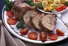 De plaat met voedsel Royalty-vrije Stock Fotografie