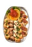 De plaat van de catering Stock Fotografie