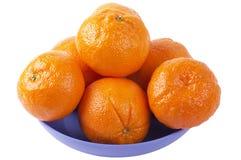 De plaat van de citrusvrucht Royalty-vrije Stock Afbeelding
