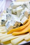 De plaat van de kaas Royalty-vrije Stock Afbeelding