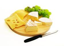 De plaat van de kaas Stock Fotografie